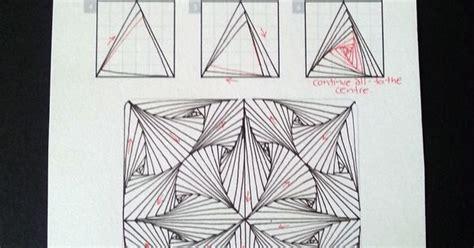 zentangle triangle pattern paradox triangles zentangle zentangles pinterest