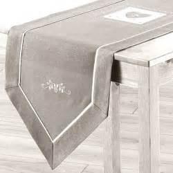 chemin de table l150 cm amandine brod 233 gris chemin de