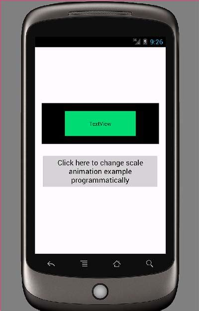 android layout animation programmatically android change view scale with animation exle