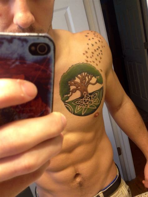 life tattoos for men tree of chest www pixshark images