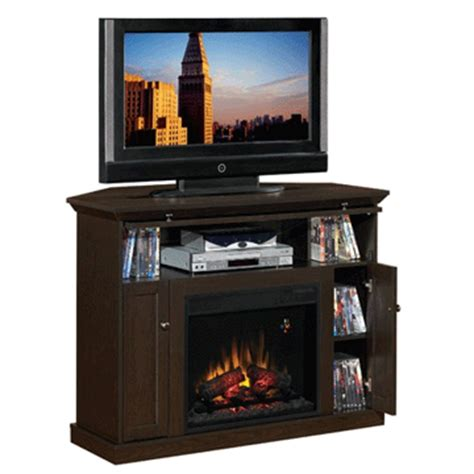 Corner Electric Fireplace Tv Stand Classic Corner Tv Stand With Inset Electric Fireplace Cherry 23de9047 Pc81