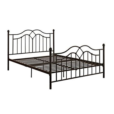 amazon metal bed frame amazon com vintage style queen full size rustic bed frame