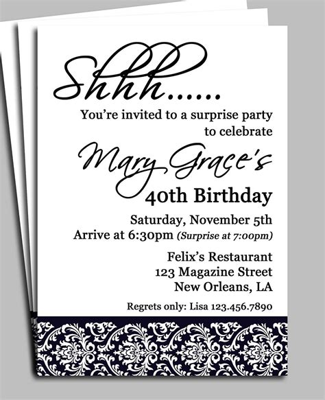 free birthday invitation templates for adults free