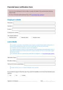 Maternity Leave Application by Parental Leave Request Template Hashdoc