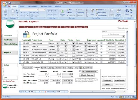 microsoft access templates microsoft access project