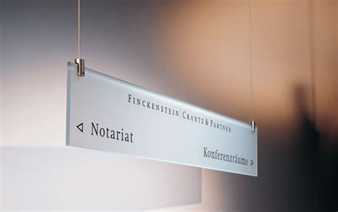 suspended sign kits for wayfinding signage directional