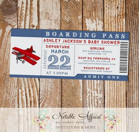 Boarding Pass Baby Shower Invitations by Boarding Pass Baby Shower Invitations Www Pixshark