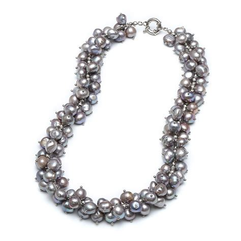 Handmade Pearl Necklaces - aobei pearl handmade necklace made of freshwater pearl and