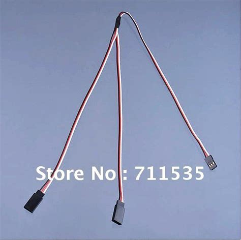 Servo Extension Cable 500mm 50cm To For Rc Airplane Hel wholesales 500mm 50cm line servo y extension wire cable