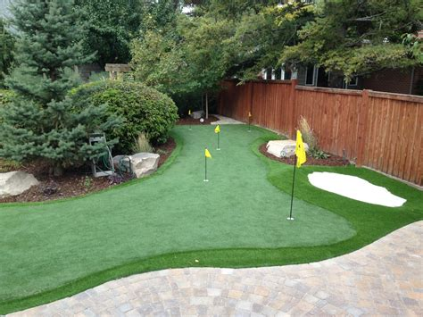 golf green for backyard creative backyard designs that are also useful