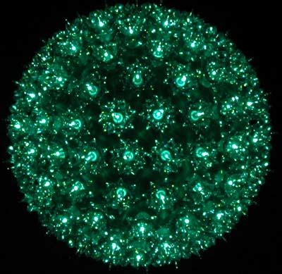 green 10 quot starlight sphere 150 light christmas ball