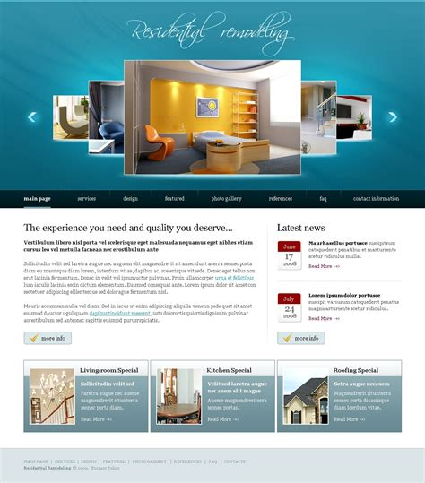 home remodeling website template 23568