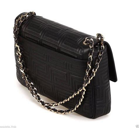 Couture Leather Shoulder Bag by New Gianni Versace Couture Black Quilted Leather Shoulder