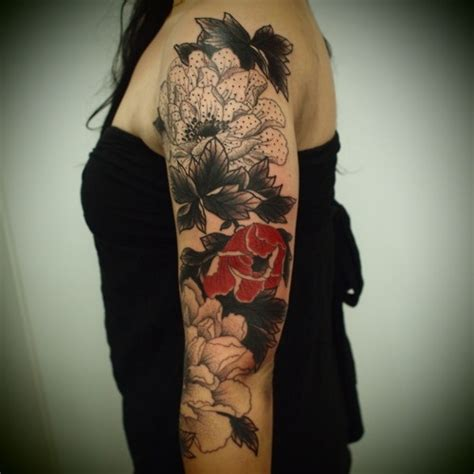 Black And Grey Tattoo With Red | black grey and red cute tattoo