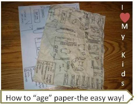 How Make Paper Look - how to make paper look without burning it use coffee