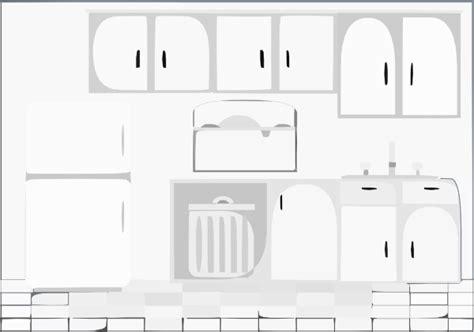 kitchen layout clipart kitchen bw clip art at clker com vector clip art online
