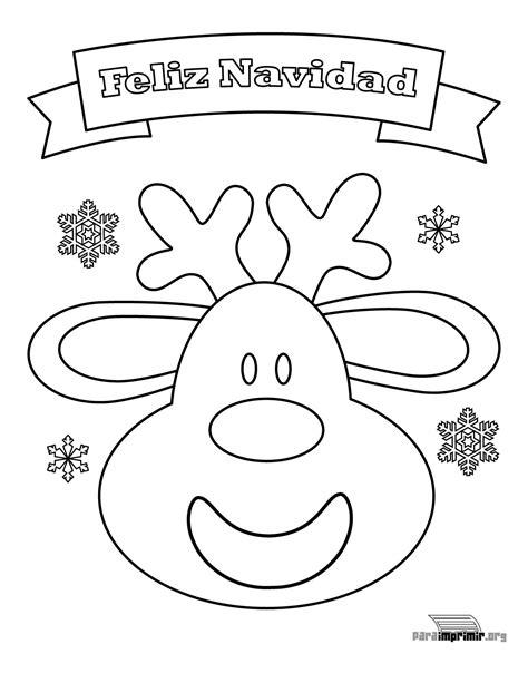 imagenes de navidad para colorear renos reno de navidad para colorear