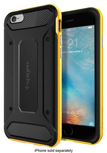 Spigen Carbon Iphone 6 Rugged Capsule Slim Carbone Iphone 6 T2909 spigen neo hybrid carbon carrying for apple iphone 6 and 6s yellow sgp11622 best buy