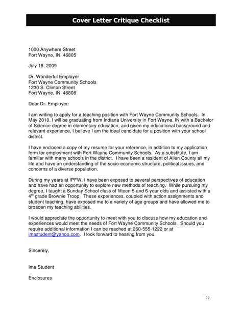 Cover Letter For School District How To Write A Letter To School District Elementary Cover Letter Sle School Best