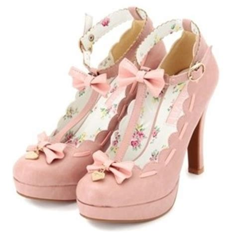 shoes pink high heels pretty kawaii liz japanese