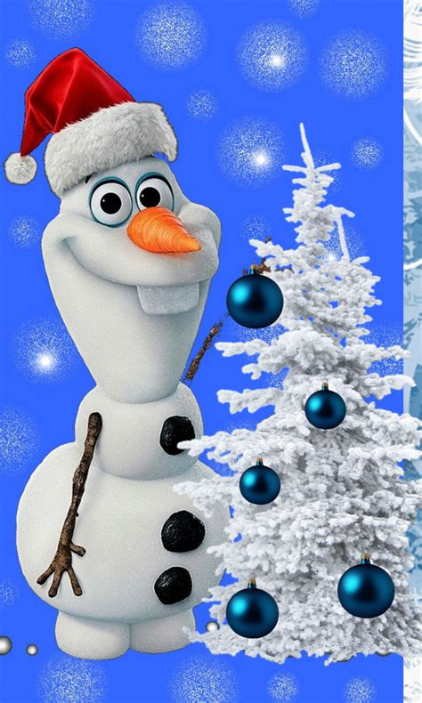 wallpaper christmas olaf free olaf merry christmas jpg phone wallpaper by twifranny