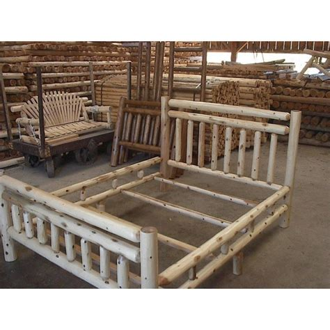 log bed frame rustic log bed frames nngttxsw log furniture aspen log