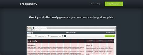 responsive layout template generator 50 free web based tools for web designers from 2012