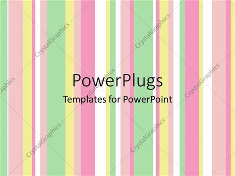 powerpoint template green orange pink vertical waves with white