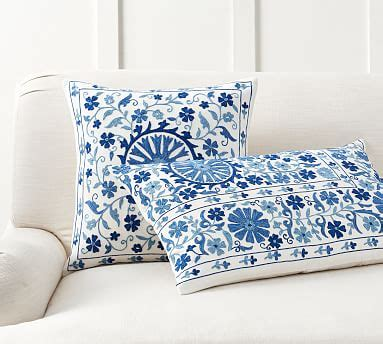 arella embroidered pillow cover pottery barn