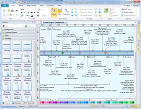 visio timeline overlapping intervals timeline project management chart solutions