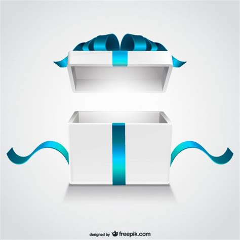 big box open during new year open gift box vector free