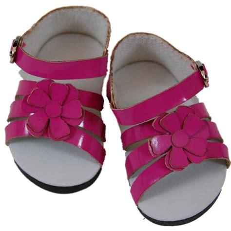 american doll slippers pink strappy sandals for 18 quot american 168 doll clothes
