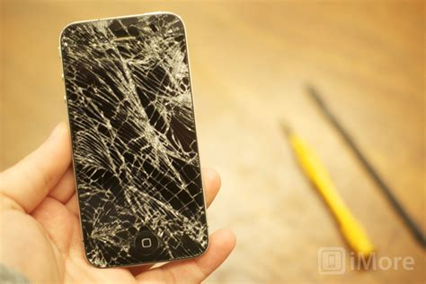 fix cracked iphone screen how to replace a broken iphone 4 gsm screen imore