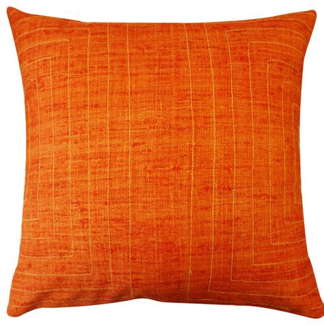 Orange Decorative Pillows For by Streams Orange Pillow Decorative Pillows