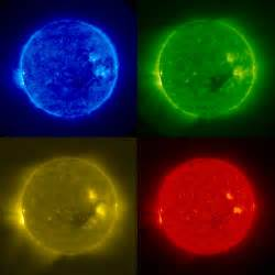 what color is the sun nasa stereo sends back solar images