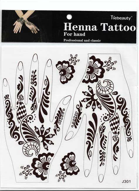 red henna temporary tattoo lace transfer new henna arm henna stencil