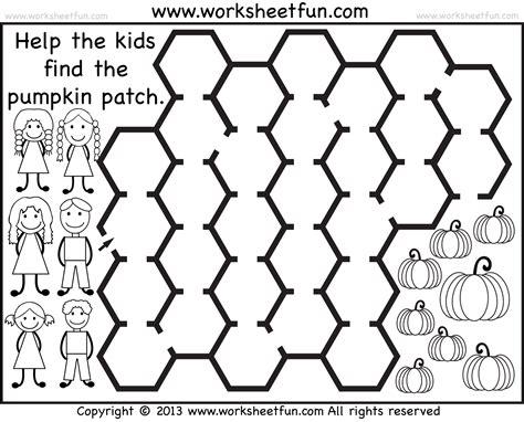printable owl maze pumpkin patch maze 2 worksheets free printable