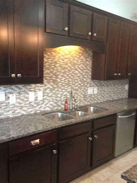 tile backsplash for kitchens with granite countertops cabinets caledonia granite tile backsplash my house granite