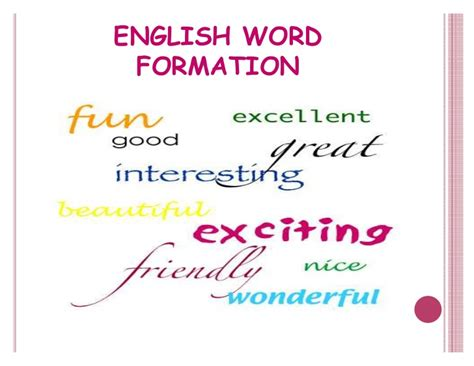 patterns of english word formation 32982346 english word formation 1