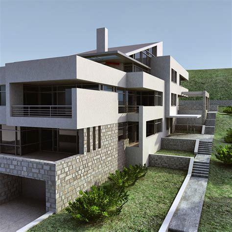 model house building 3d model modern building