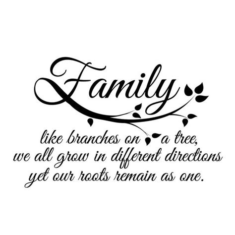 small family quote in black sale decals