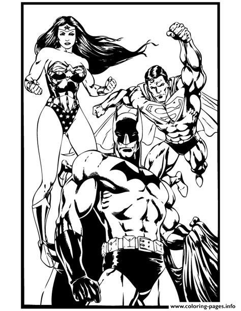 coloring pages of batman and superman superhero batman superman and wonder woman coloring pages