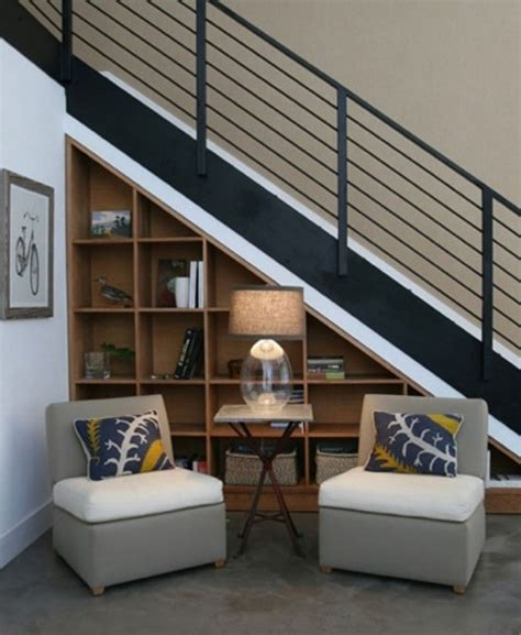Underneath Stairs Design Stairs Shelves Interior Design Ideas
