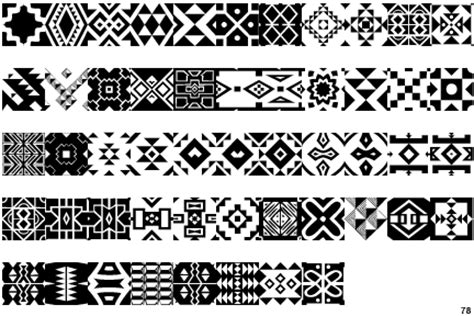 zulu pattern vector identifont zulu ndebele patterns one