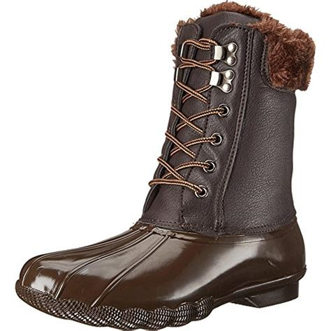 steve madden snow boots steve madden 3824 womens tstorm brown ankle toe lace