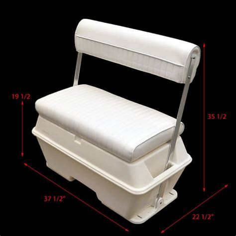 swing back boat seats wise 156 white 70 qt offshore swing back boat storage