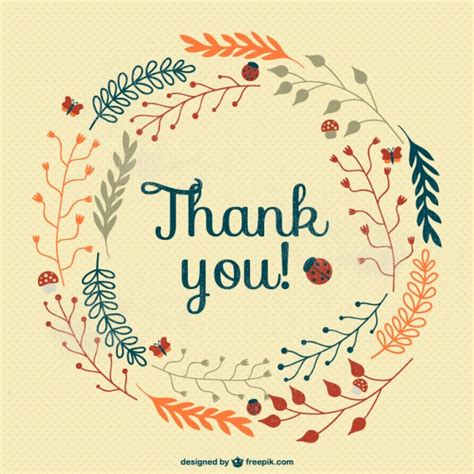 multicolor thank you card vector free download