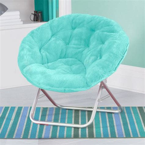 bedroom chairs for teenagers folding soft plush saucer chair aqua seat dorm furniture