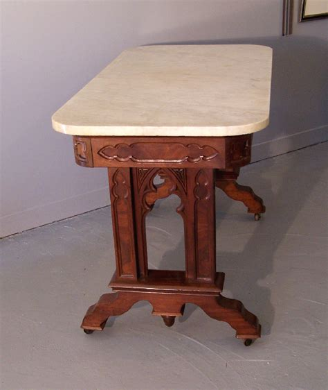 Library Table For Sale by 8130 Revival Period Mahogany Frame Library Table