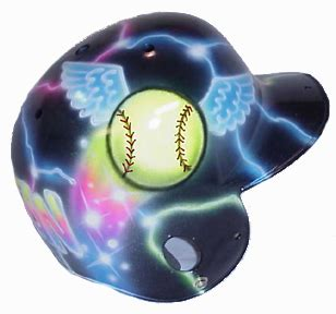 design batting helmet design your own airbrushed batting helmet from our many